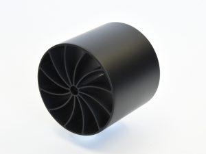3Dプリンター出力品エポキシ黒塗装
